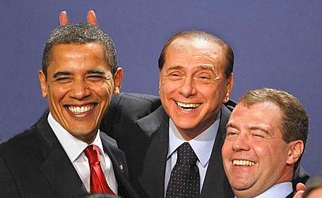 Britain G20 Summit with Berlusconi, Obama, Medevev